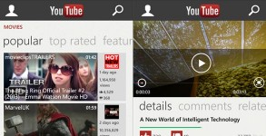 application YouTube officiel Windows Phone 8