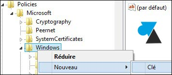 regedit cle de registre windows8