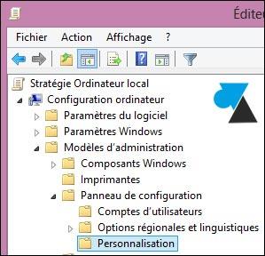 gpedit ordinateur modele administration panneau de configuration