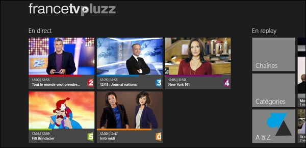 application replay TV FranceTelevision Pluzz