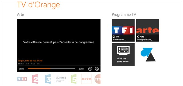 replay TV direct Orange ADSL