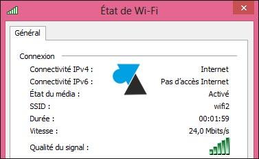 uptime Windows connexion reseau sans fil wifi