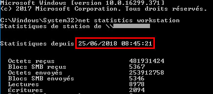 tutoriel uptime windows