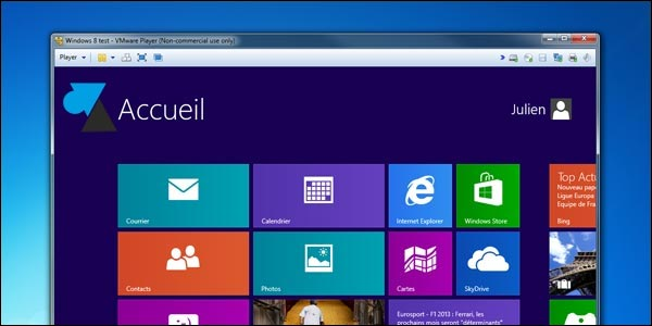 windows 8 machine virtuelle vmware player