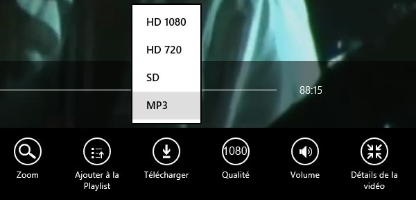 Windows 8 application YouTube telecharger video mp3 fullhd hd 1080