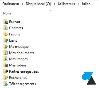 deplacer mes documents disque partition