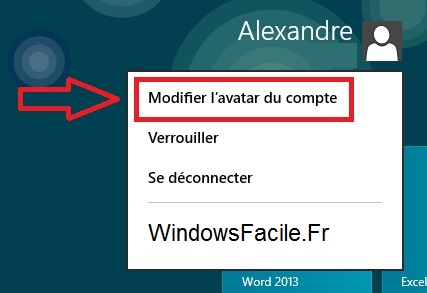 Modifier avatar Windows 8