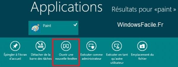 Ouvre deuxieme instance windows 8