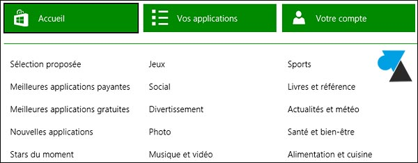 Windows 8.1 Store magasin applications winstore