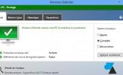 Télécharger les dernières mises à jour pour Security Essentials et Windows Defender