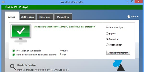 Windows Defender antivirus tutoriel