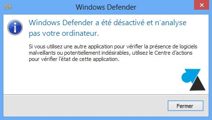 Windows Defender inactif
