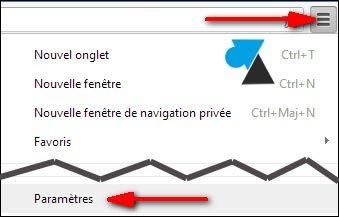 navigateur internet Google Chrome configuration