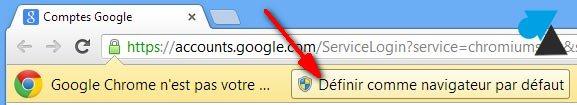 navigateur internet Google Chrome installation par defaut