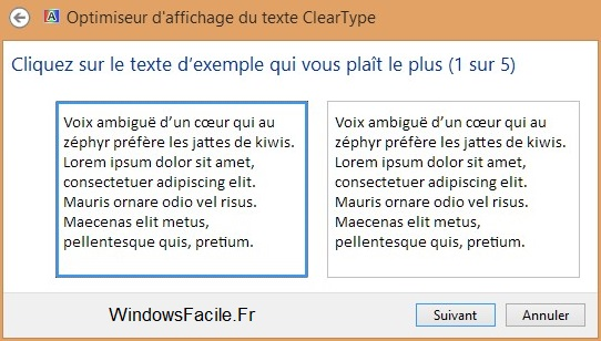 ClearType choix texte
