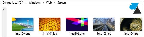 trouver dossier fond ecran wallpaper Windows 8