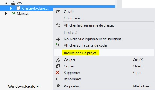 visual studio inclure fichier