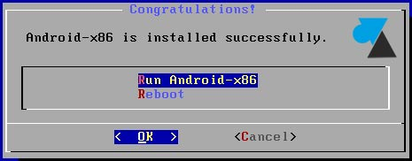 guide installation Run Android-x86