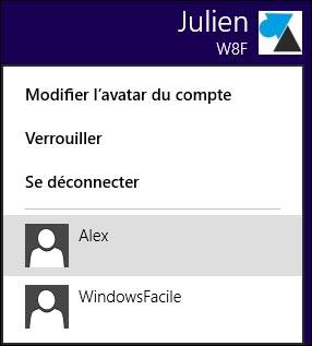 changer utilisateur Windows 8