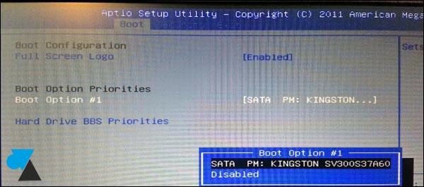 netbook Asus SSD Bios