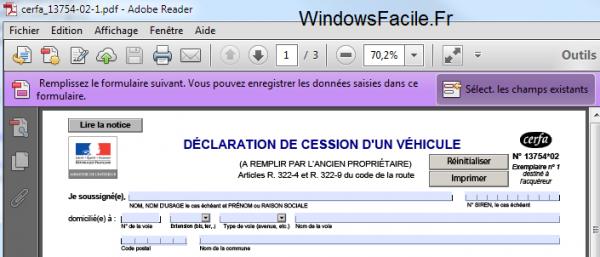 PDF ouvrir formulaire adobe reader
