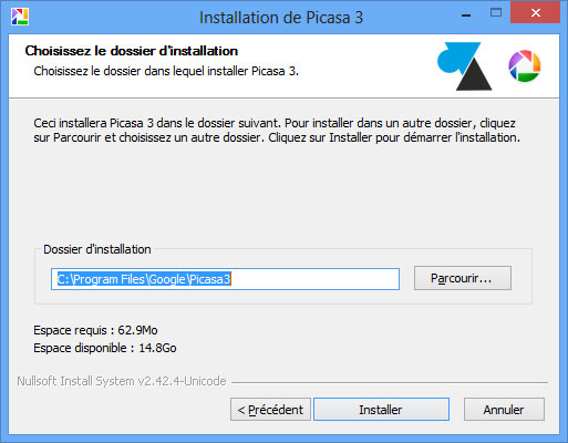 tutoriel Picasa installation logiciel Google