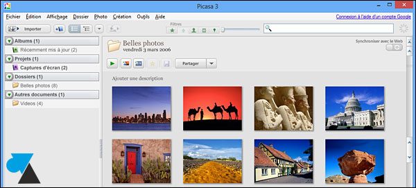 guide manuel Picasa configurer logiciel Google photo