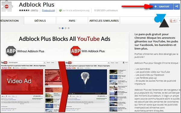 tutoriel Google Chrome installer Adblock bloquage publicité