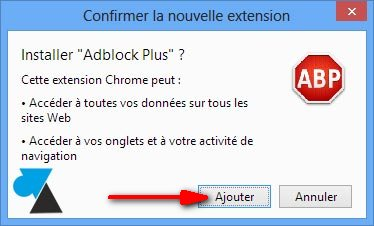 tutoriel Google Chrome installer Adblock bloquer pubs