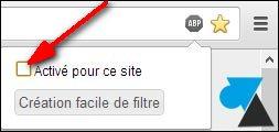 Chrome Adblock liste blanche