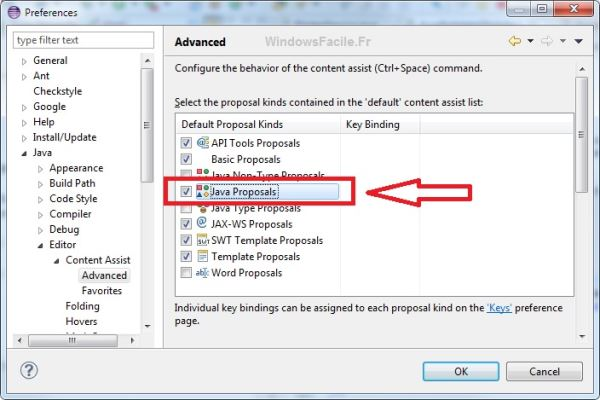 Eclipse Java content assist advanced