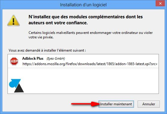 tutoriel Firefox Adblock installer