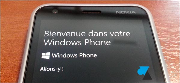 Nokia Lumia 620 demarrage ecran