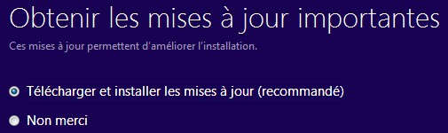 MAJ update Windows 81 depuis w7