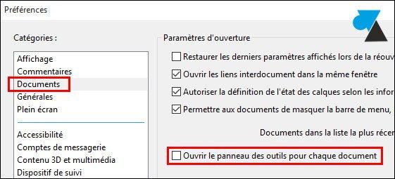 tutoriel Adobe Acrobat Reader desactiver panneau lateral