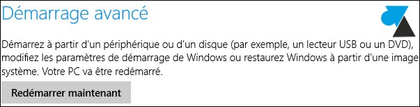 demarrage avance Windows