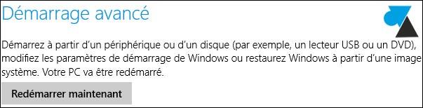 demarrage avance Windows