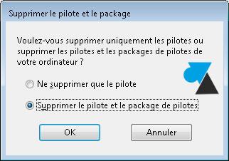 desinstaller pilote driver imprimante Windows