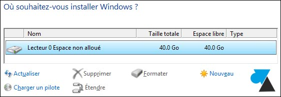 Windows 8.1 disque dur