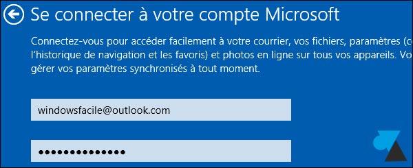 tutoriel manuel Windows 8-1 compte Microsoft