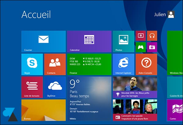 tutoriel manuel Windows 8-1 installe