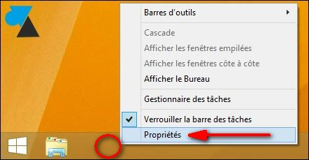 proprietes bureau Windows