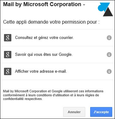 Courrier ajouter compte Gmail Google Apps
