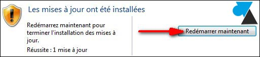 Windows Update redemarrer PC reboot