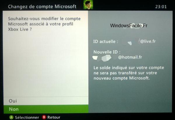 Xbox 360 valider transfert