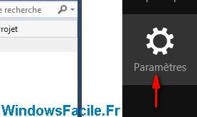 acces parametre windows 8.1