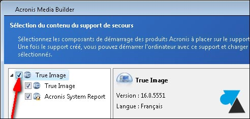 Acronis True Image Home CD cle USB bootable