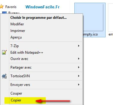 copier empty ico