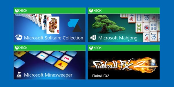 Installer Solitaire, FreeCell, Démineur, Mahjong et Flipper sur Windows 8 / 8.1