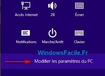 modifier parametres pc windows 8